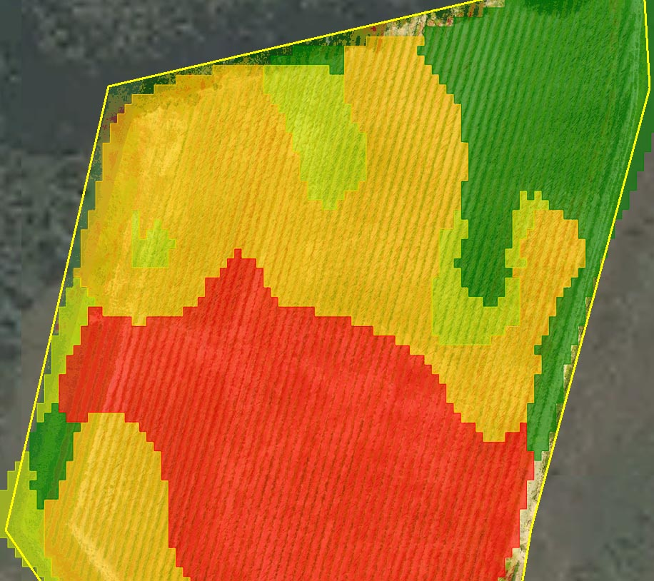 Prescription aerial map for precision agriculture