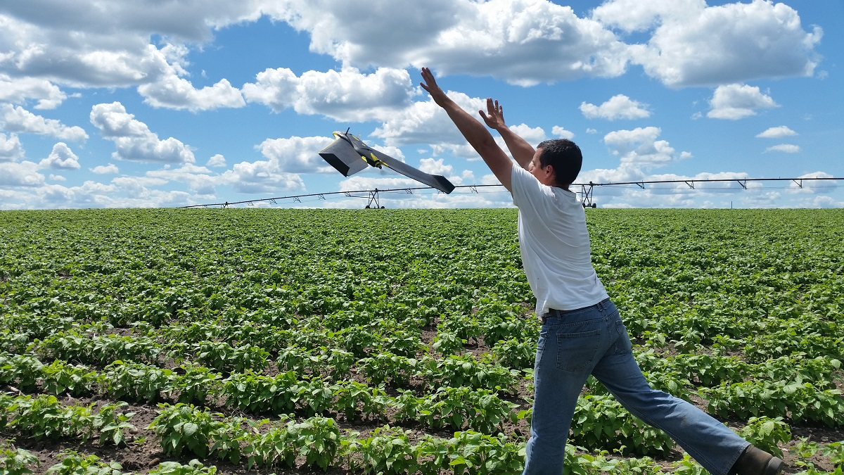 launching a fixed-wing drone