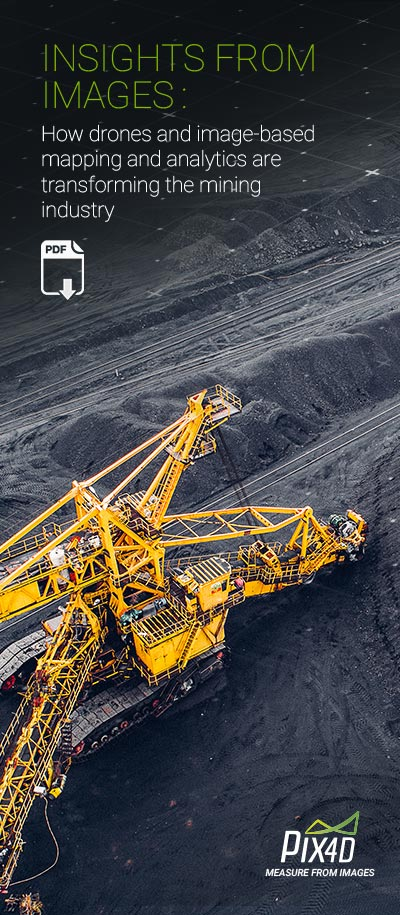 Drone mapping for mining industry