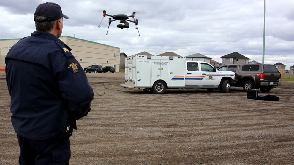 RCMP flying drone