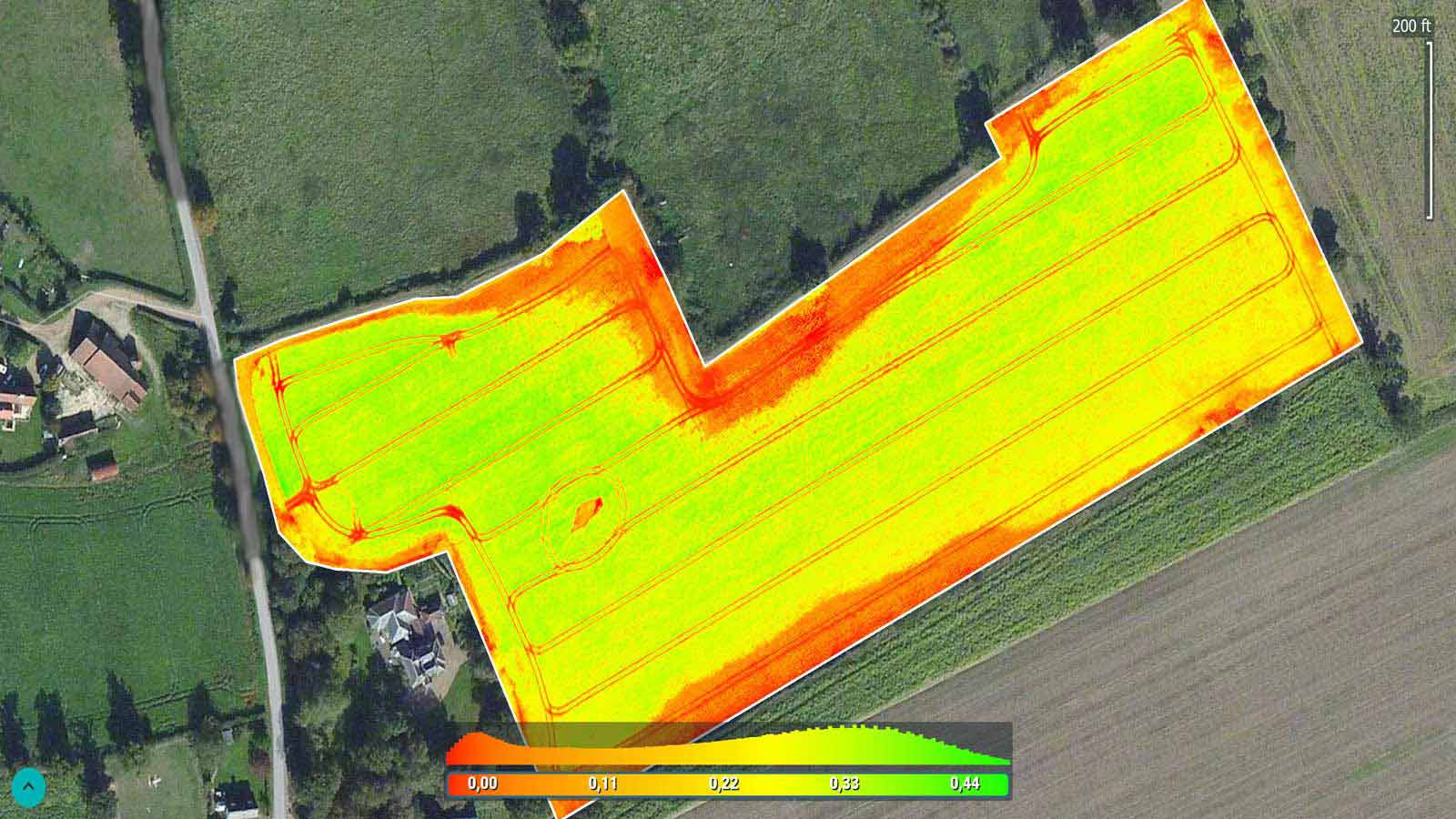 precision agriculture Index map of a canola field