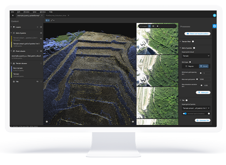 pix4dsurvey interface