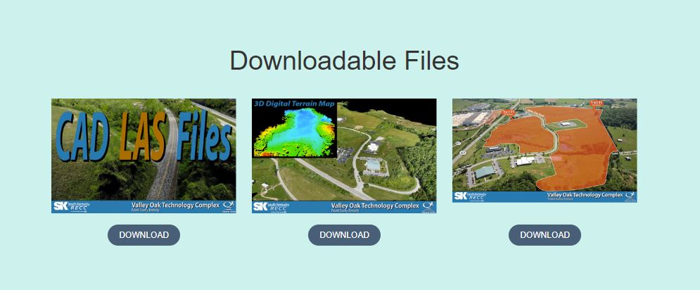 Downloadable files from drone mapping