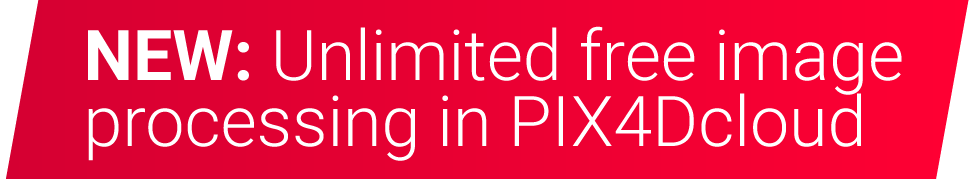 unlimited free image processing in PIX4Dcloud