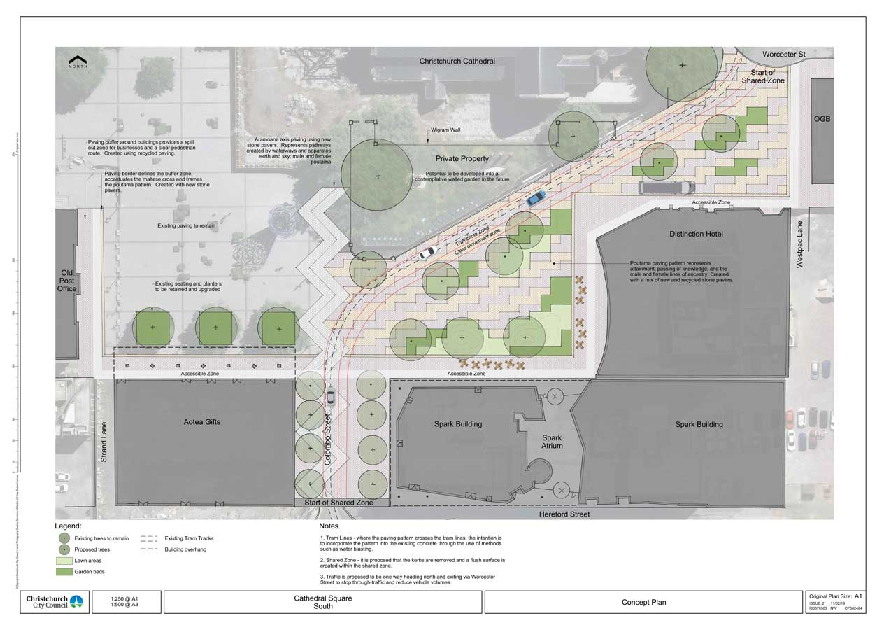 A plan to rejuvenate Cathedral Square, developed by the Christchurch City Council