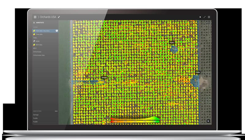 pix4dfields user interface