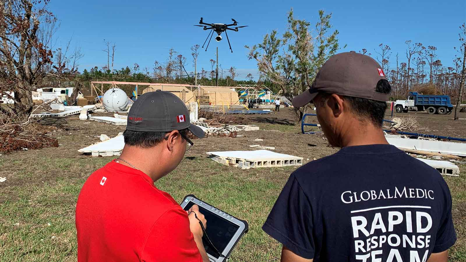 Flying-a-drone-in-a-hurricane-affected-area