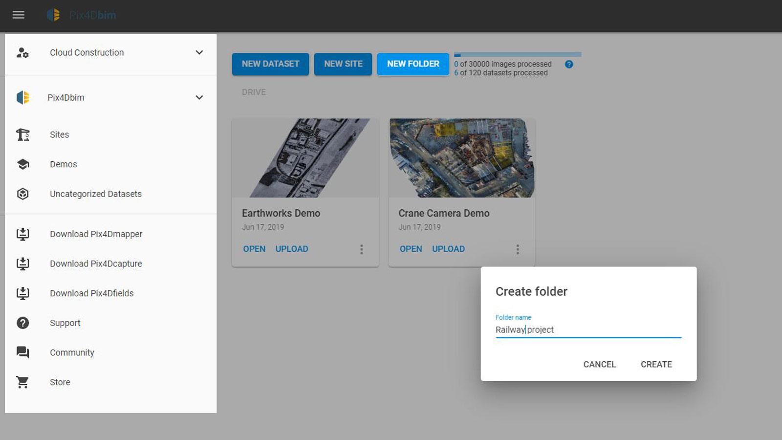 How-to-create-a-new-folder-in-Pix4Dbim