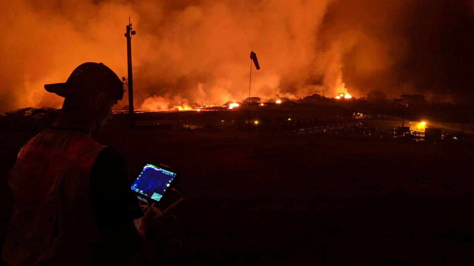 volcano erruption in Hawaii