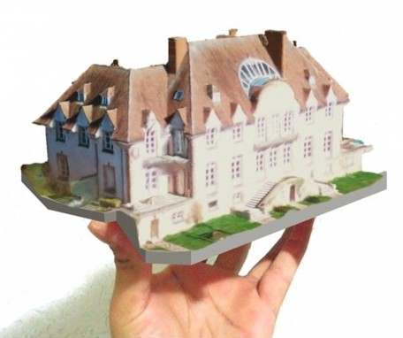 3D print of the Chateau Lion