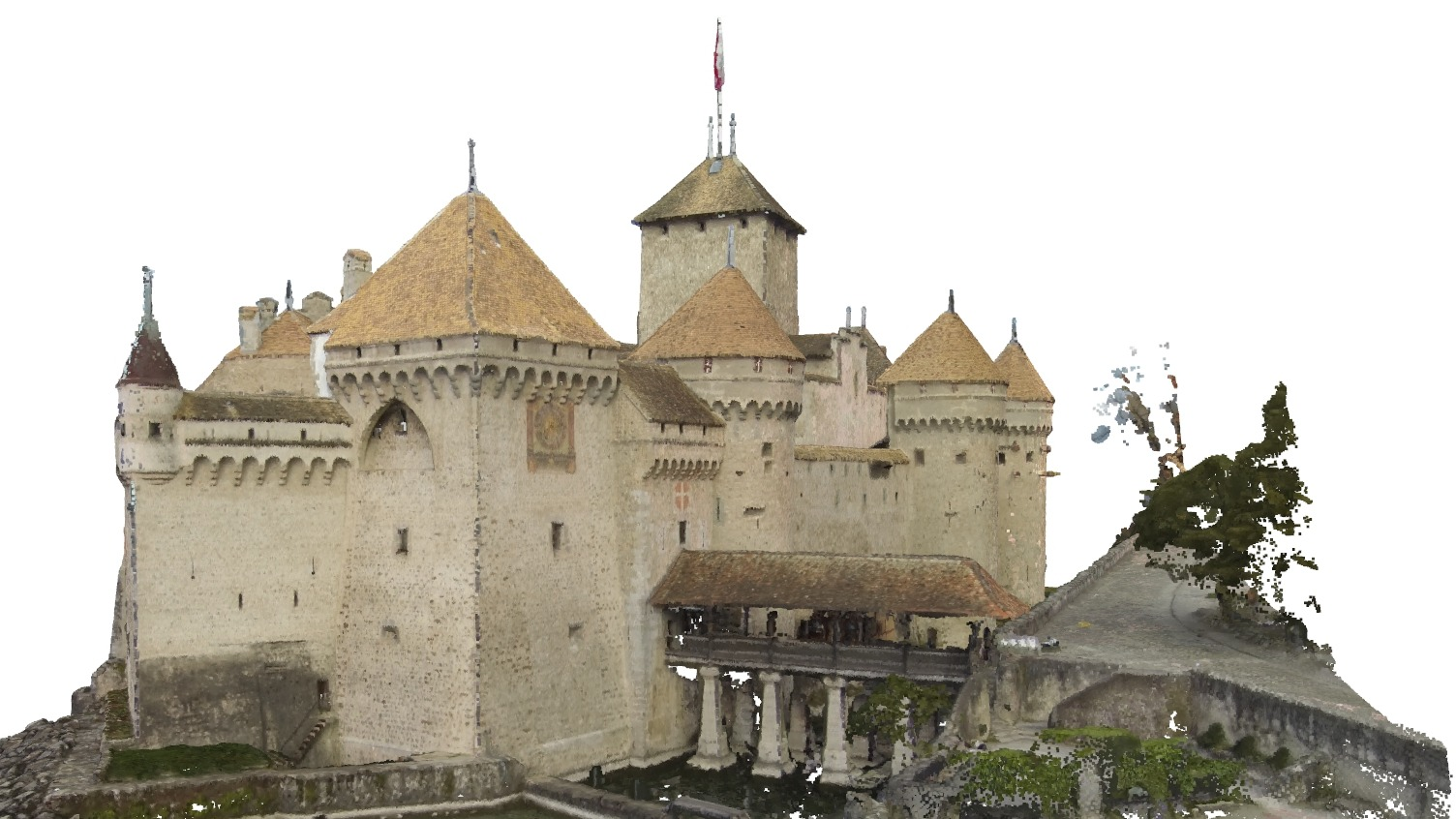 A model of the exterior of Castle Chillon.