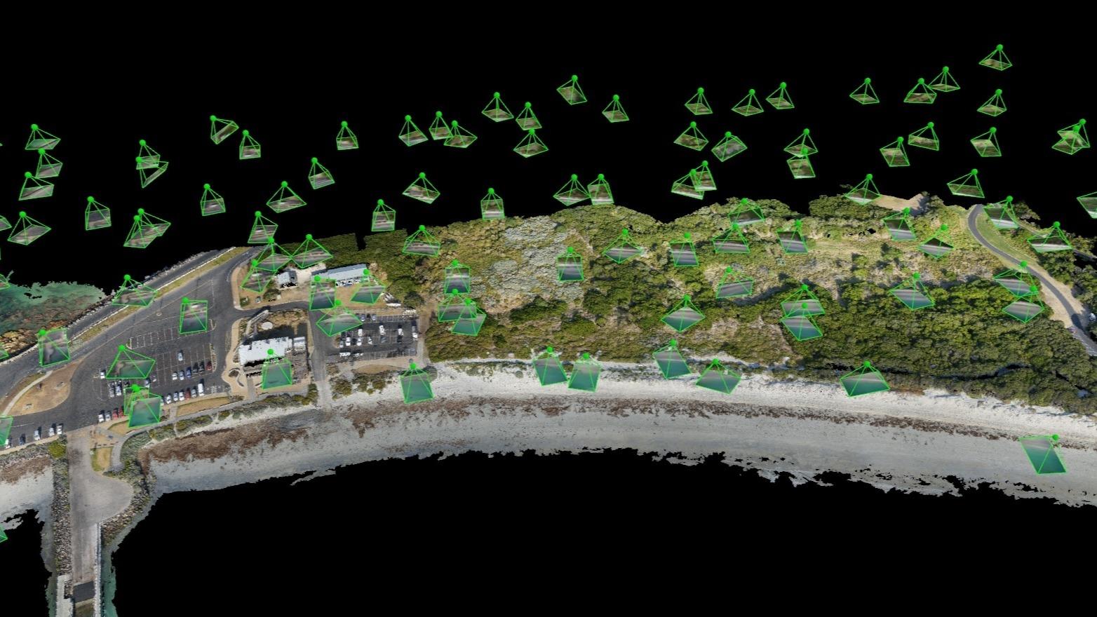 IMAGE: Erosion Volume Measurement Storm Pix4d pix4dmapper point cloud-1