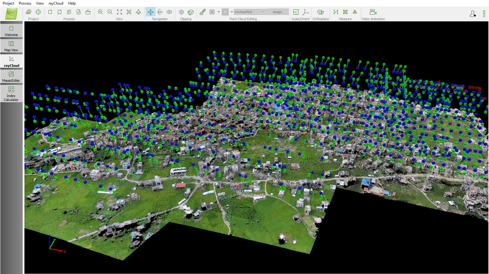 Point cloud of Nepal from Pix4Dmapper