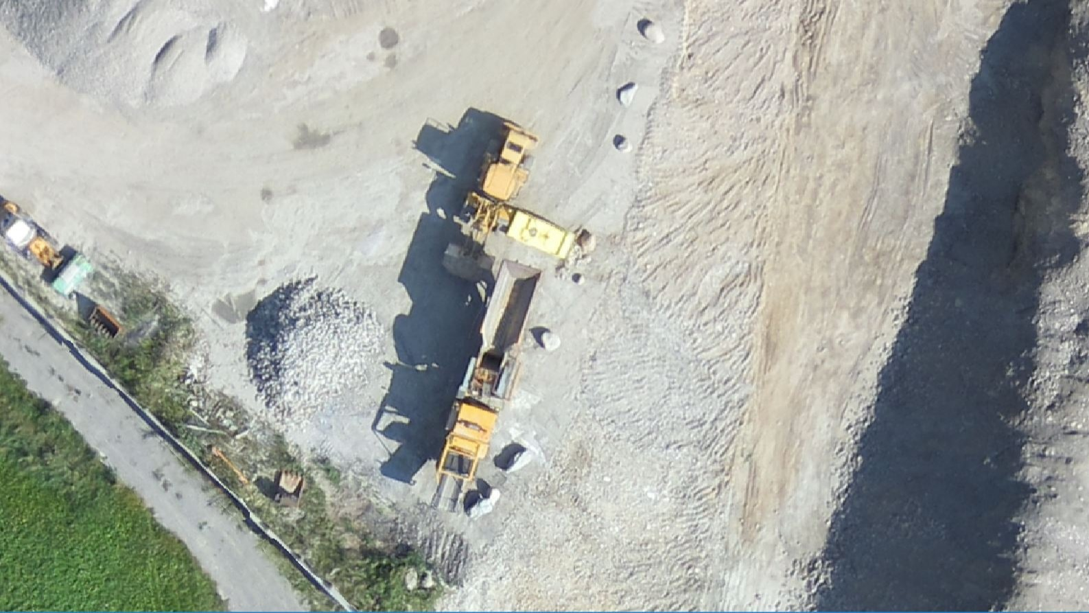 Drone map of a quarry with a GSD of 5cm