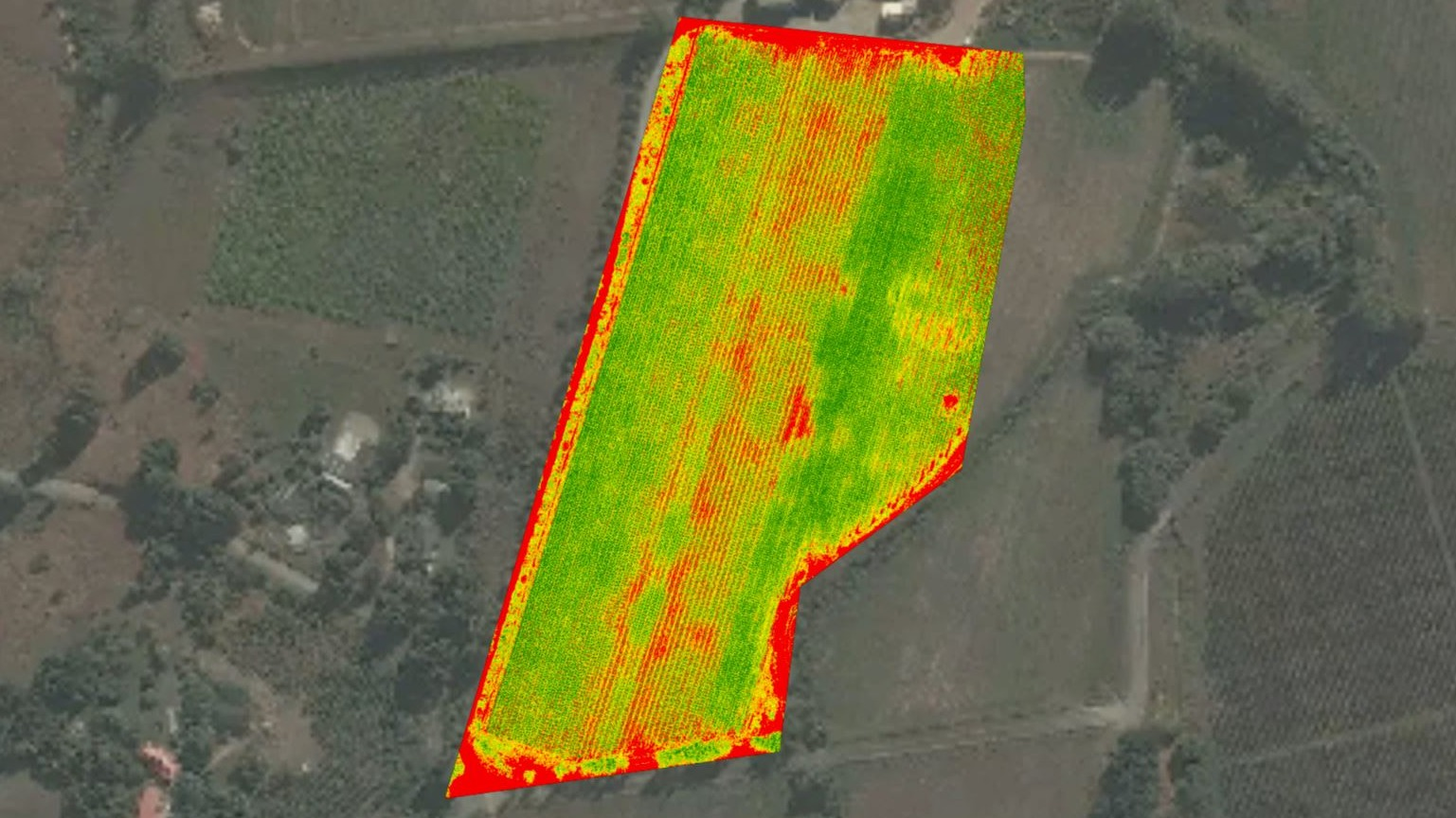 NRI reflectance map of a farm