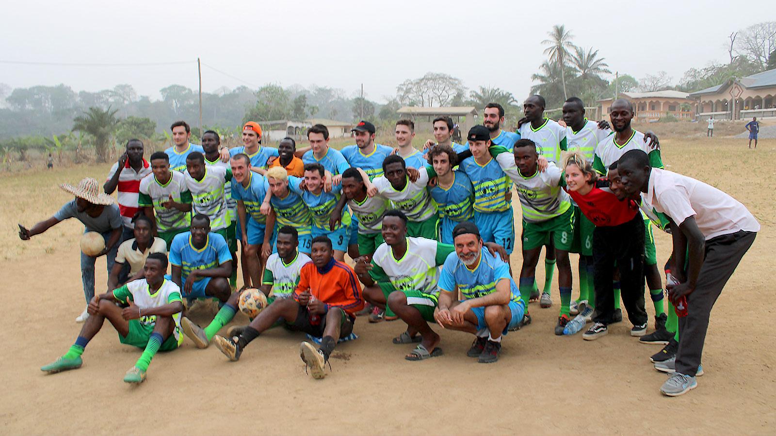 Group football team photo