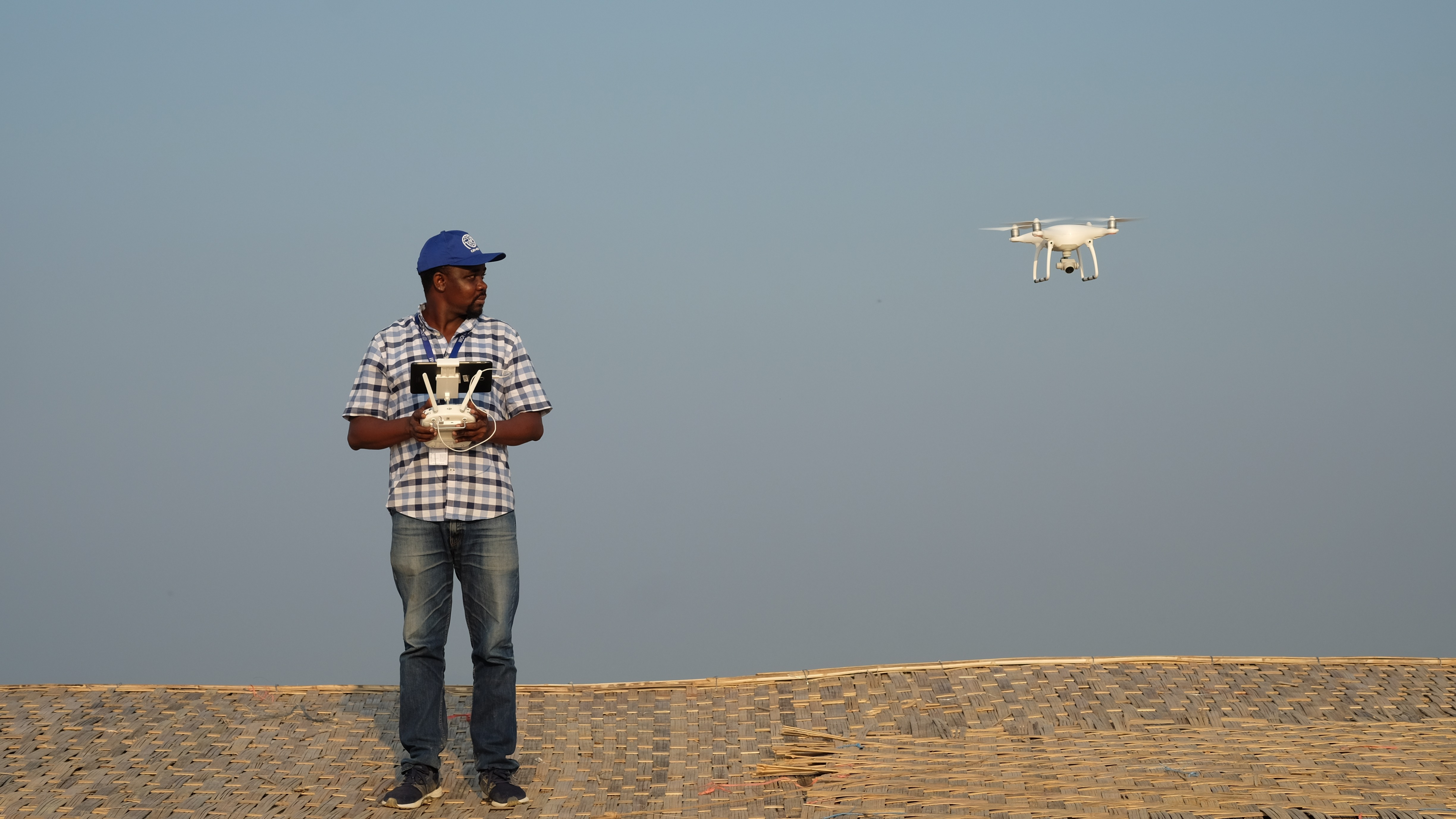 Working with a multiroter drone