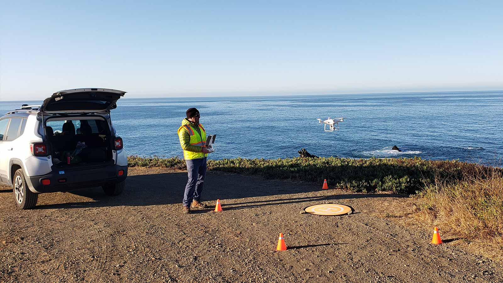 Flying-a-drone-off-hte-coast-of-california
