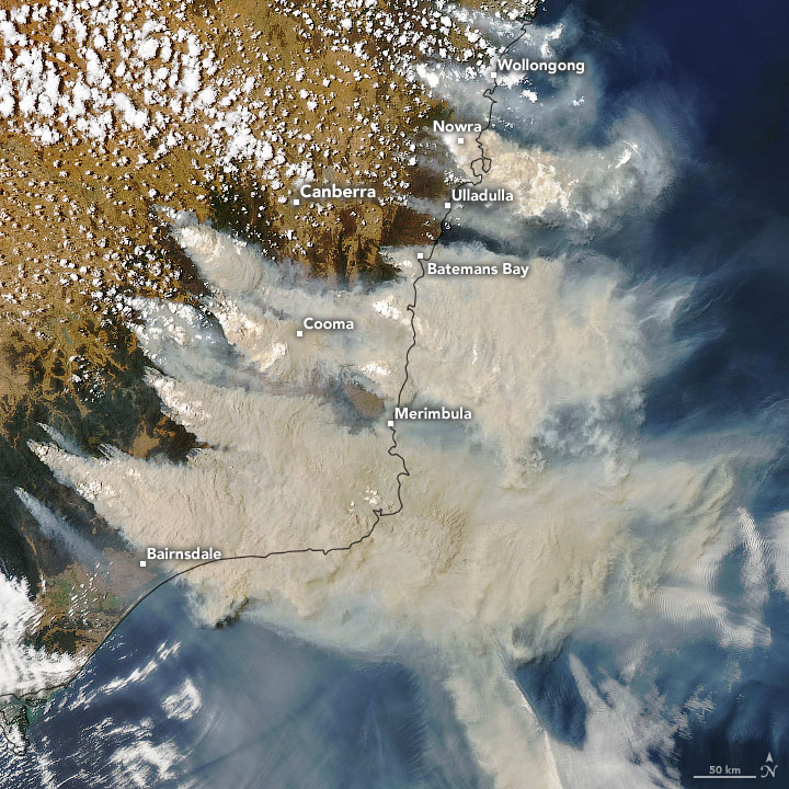 New South Wales wildFire Smoke on Jan 4, 2020