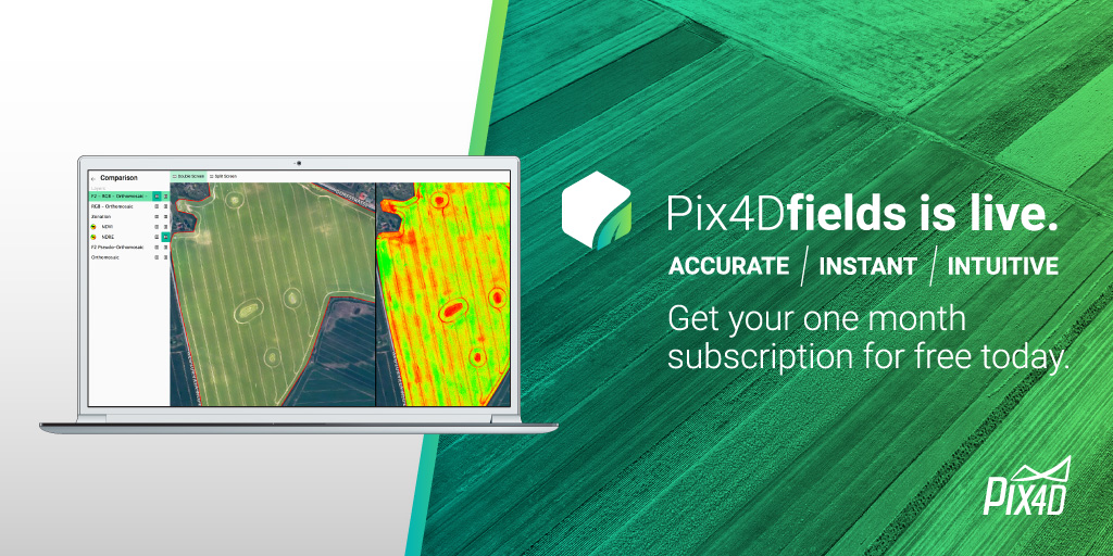 Pix4Dfields is live  Get one month free  | Pix4D