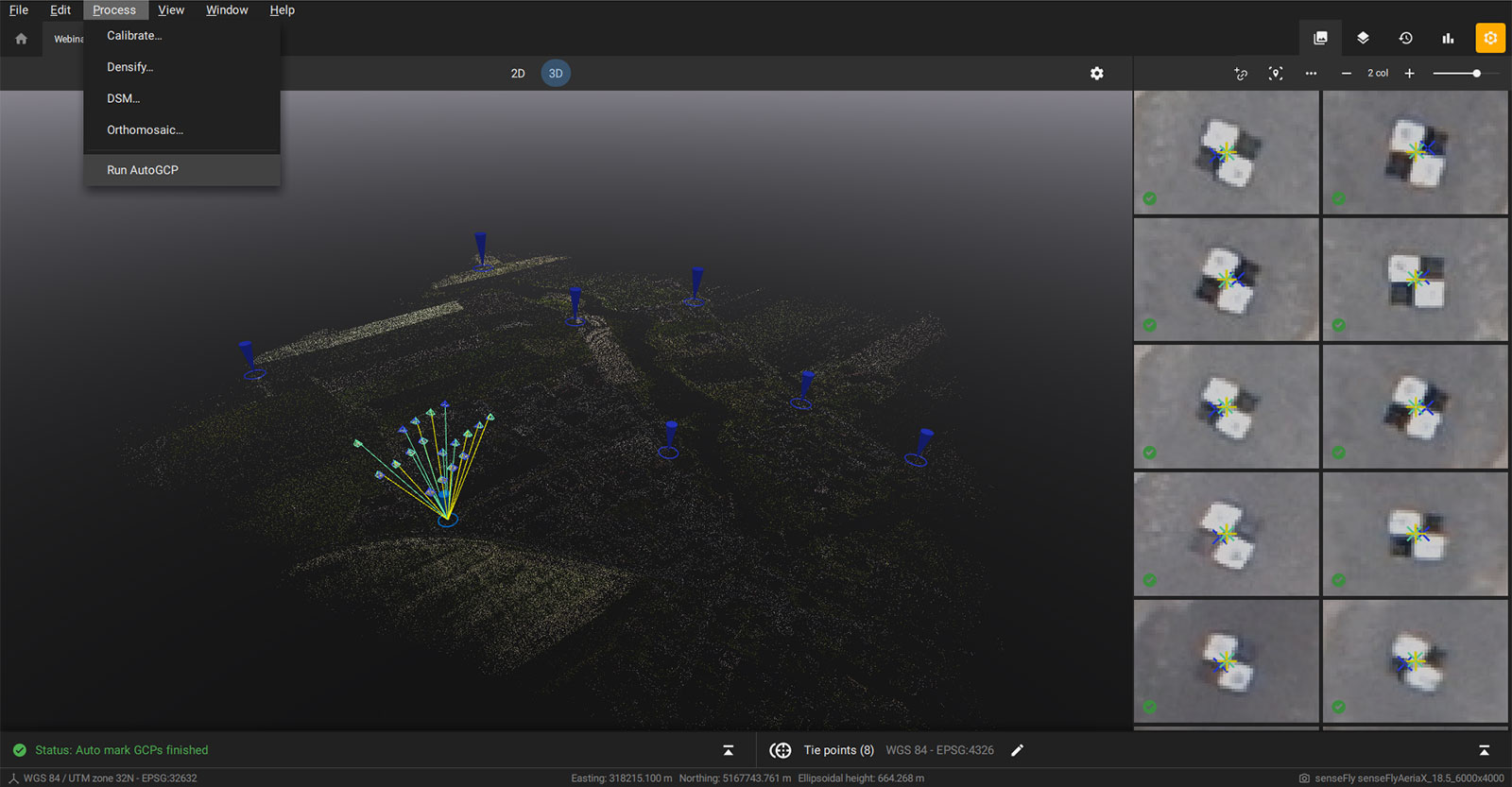AutoGCP feature in PIX4Dmatic
