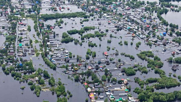 Professional drone mapping software can be used for emergency response to flooding