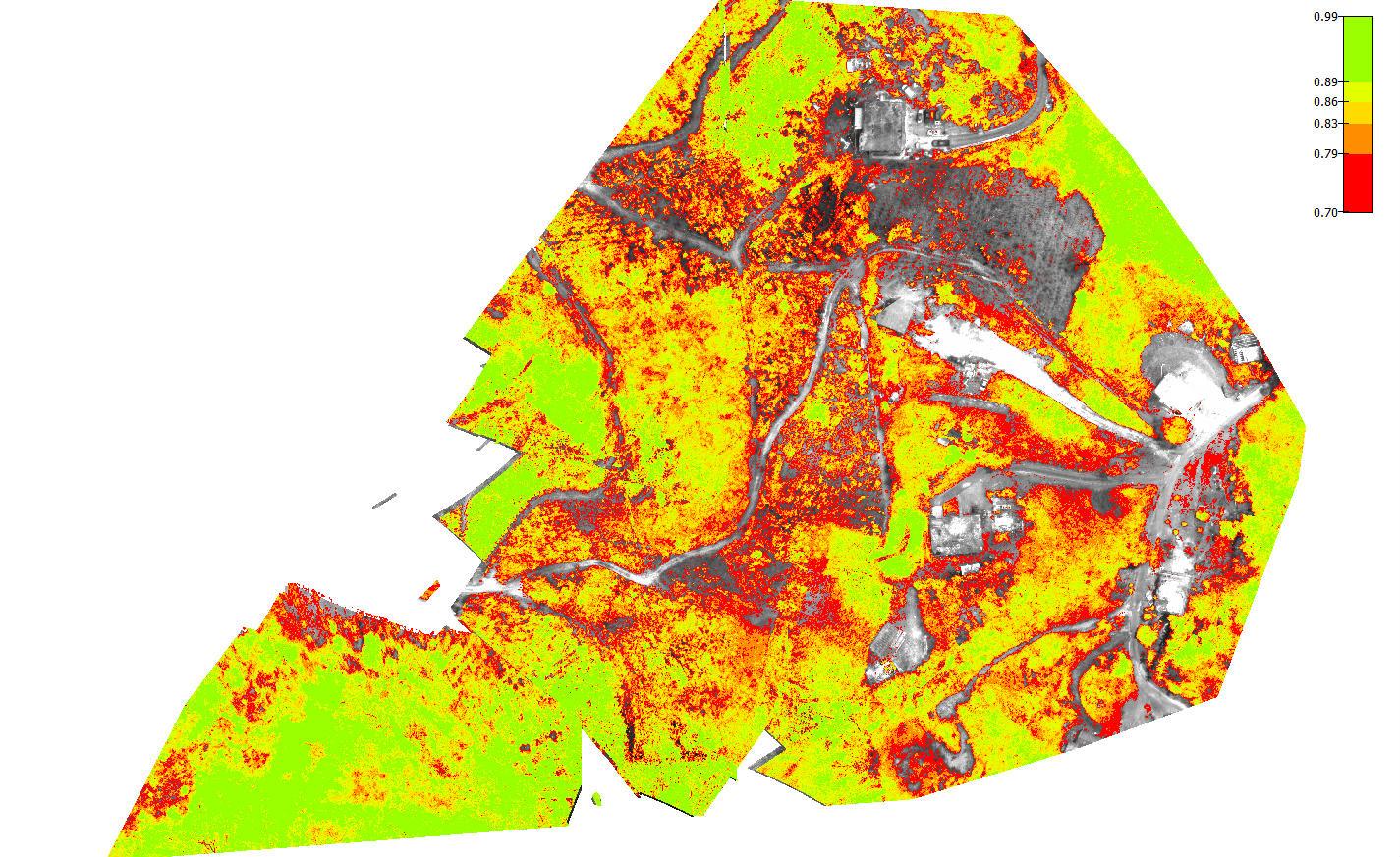 Pix4D Agriculture usecase drones climatechange NDVI map