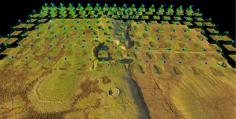 The proposed windfarm area shown with the Pix4D rayCloud TM.