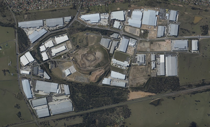 An orthomosaic of the land development in Sydney