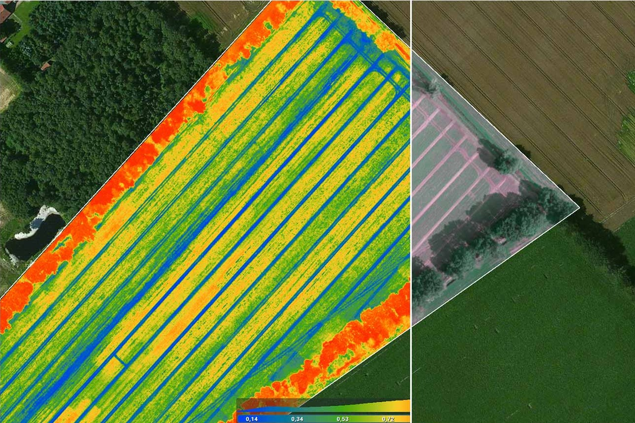 Comparing-images-thermal images to create VRA maps
