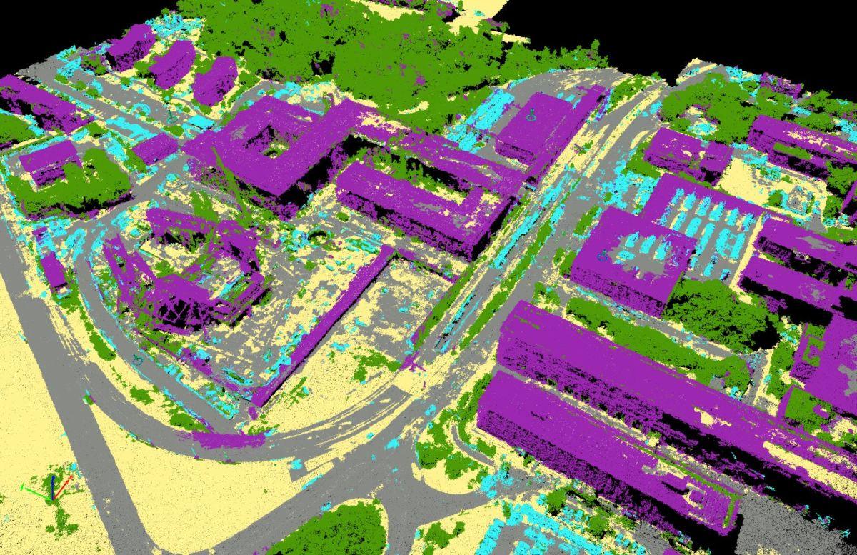 Automatic point cloud classification for construction | Pix4D