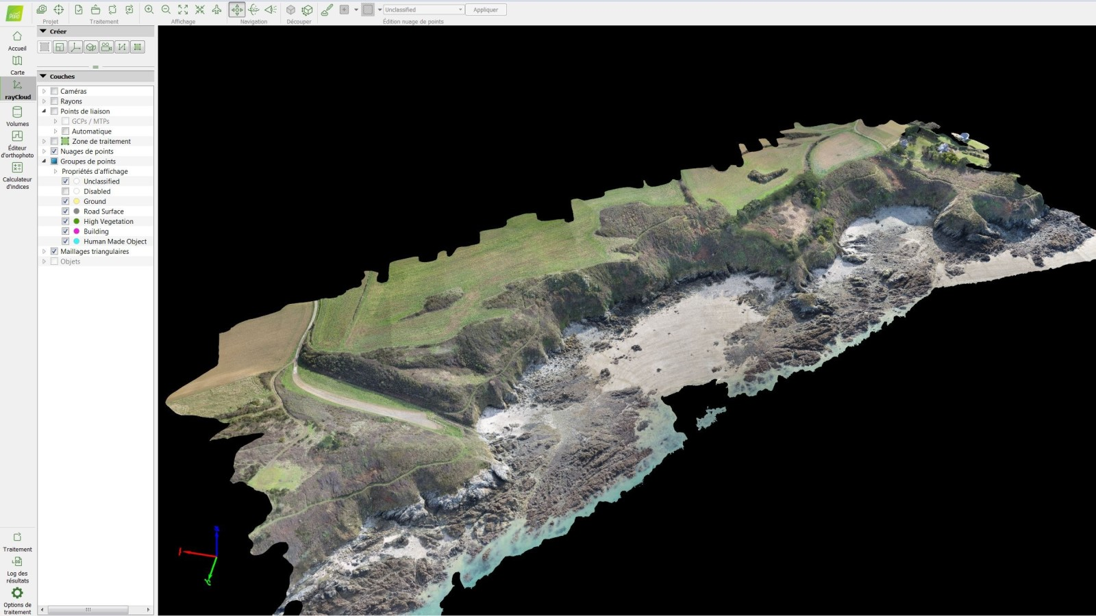 3D model of the french coast generated with Pix4Dmapper