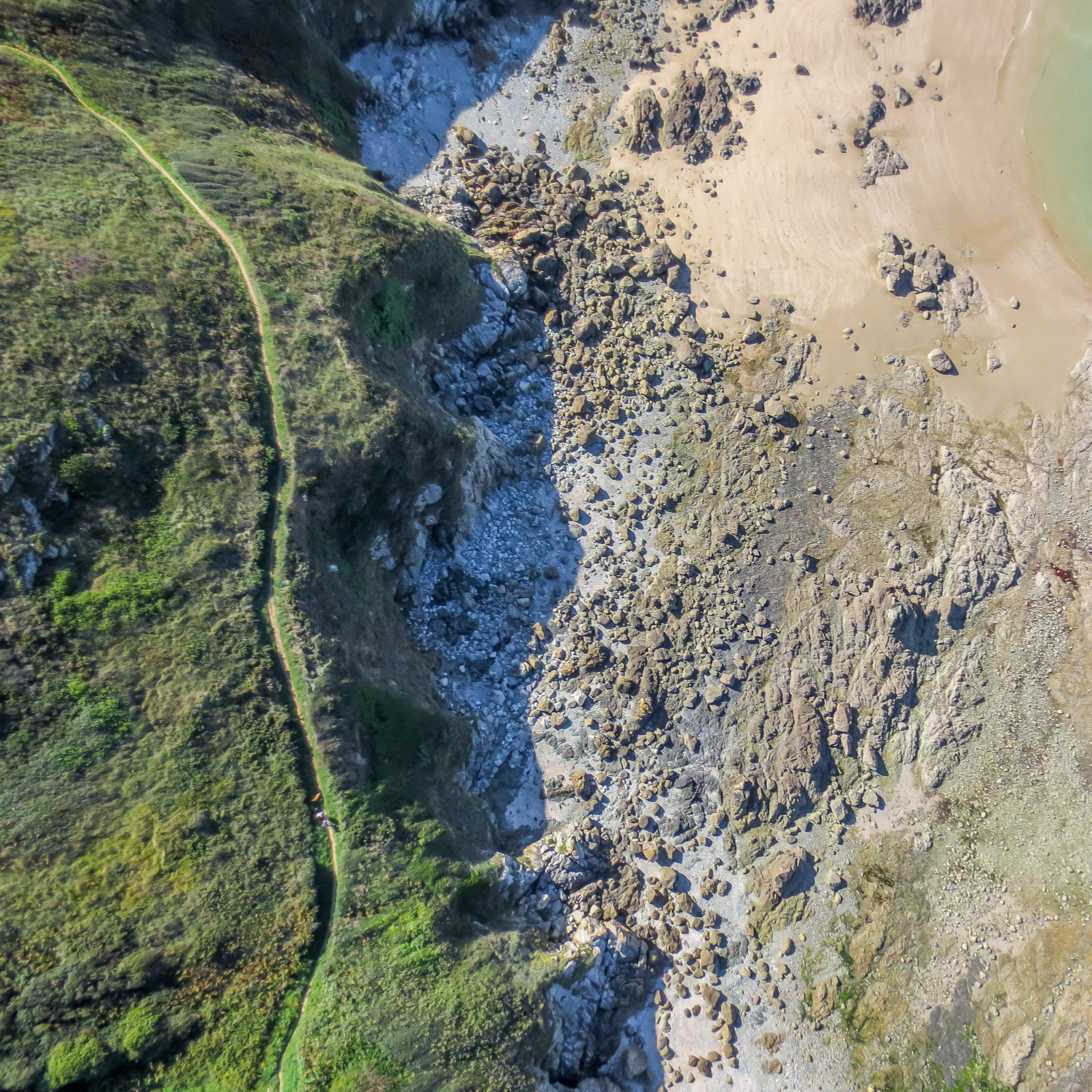 Drone map of a beach