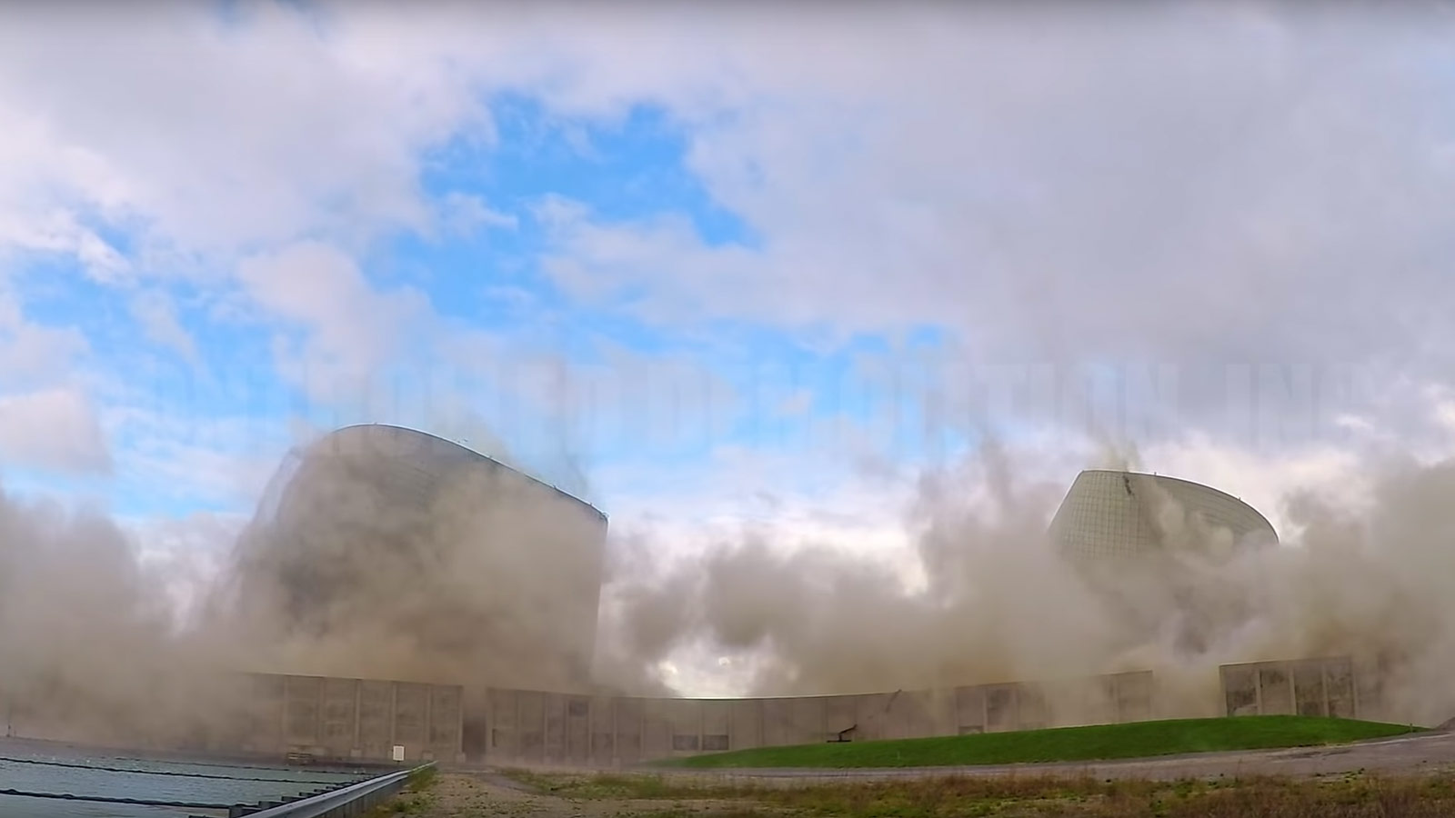 Controlled implosion is a safe and efficient method of demolition