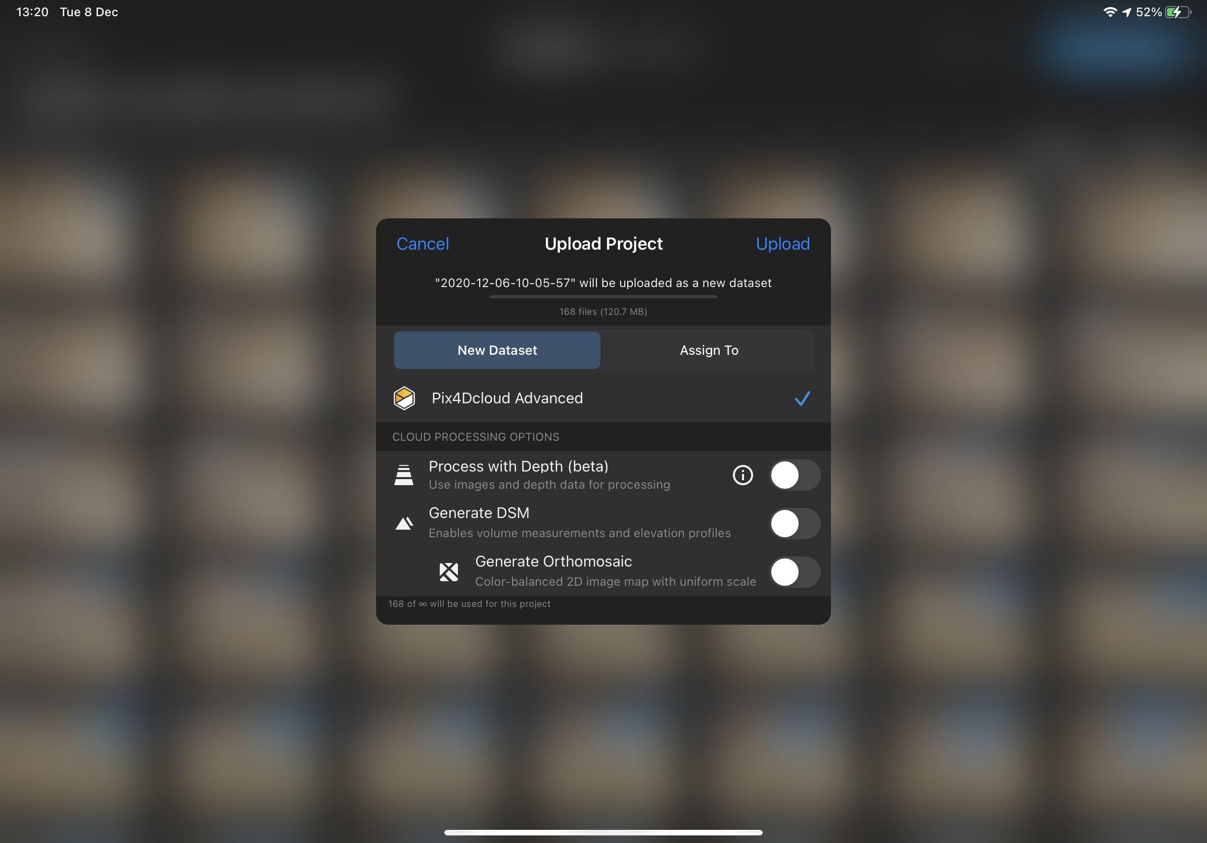 Pix4Dcatch interface