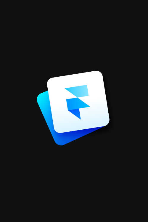 The Framer icon on black background