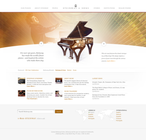 Jesse's design for piano maker Steinway and Sons