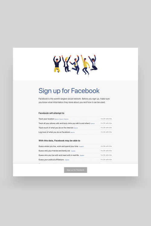 Screenshot of Signupforfacebook.org