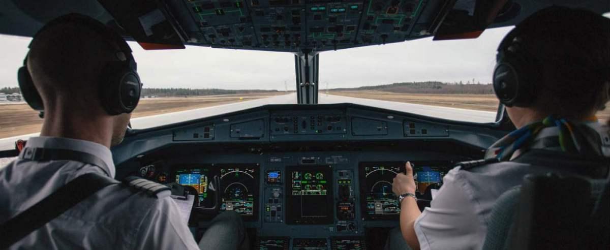 Pilot wykonał znak na niebie