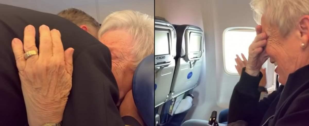 mama podczas lotu