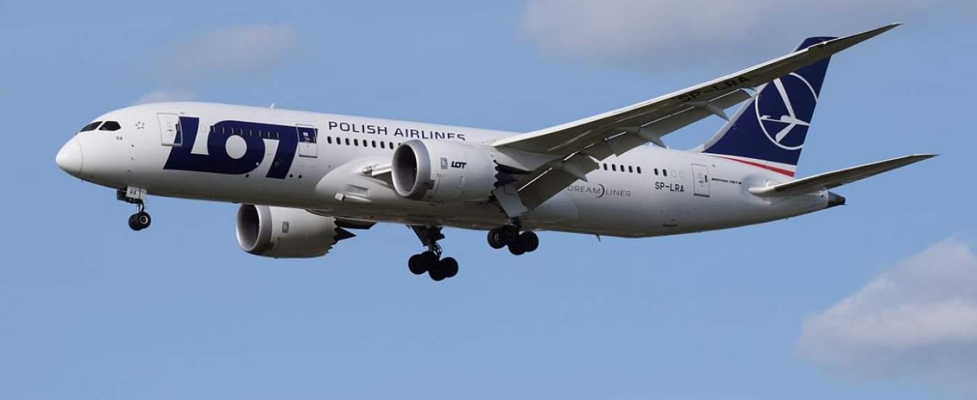 samolot LOT pasażerka