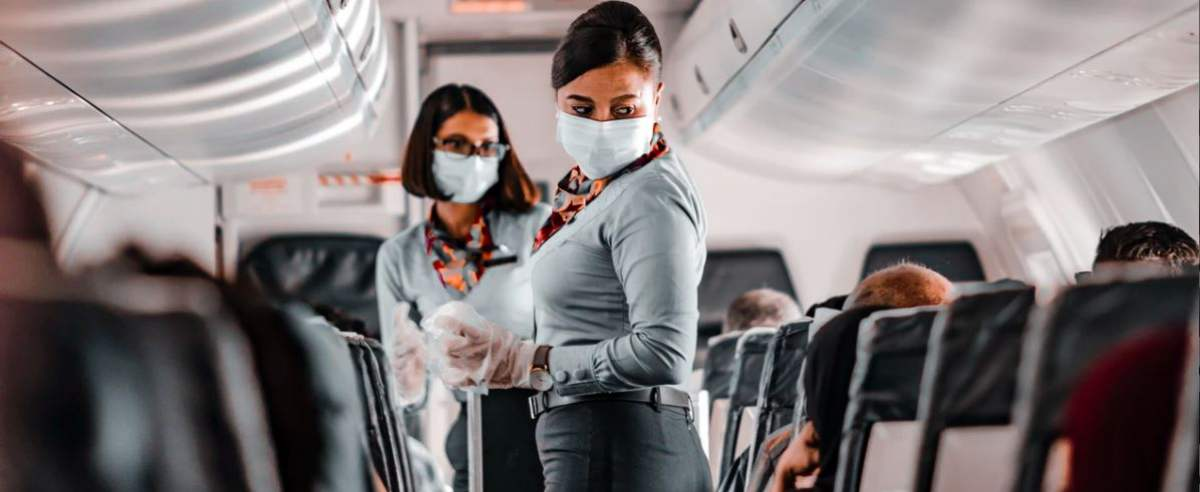 podróże samolotem w 2021 r.