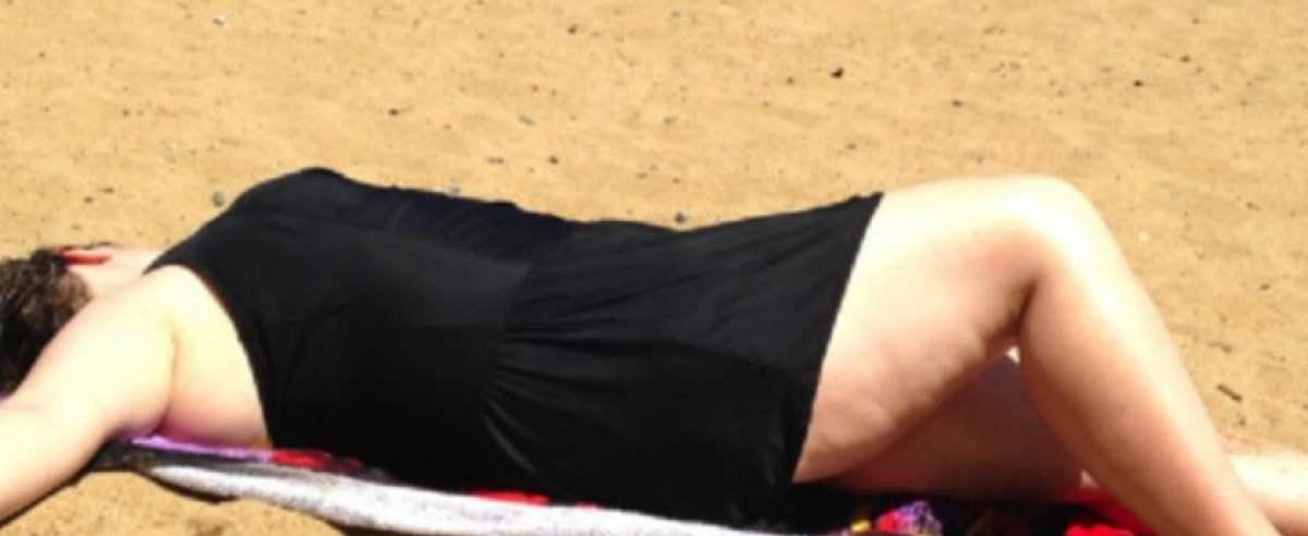 zdjęcie matki na plaży