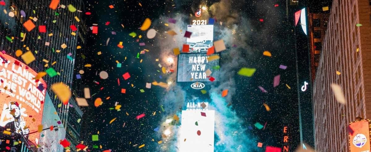 Nowy Rok został przywitany na Times Square