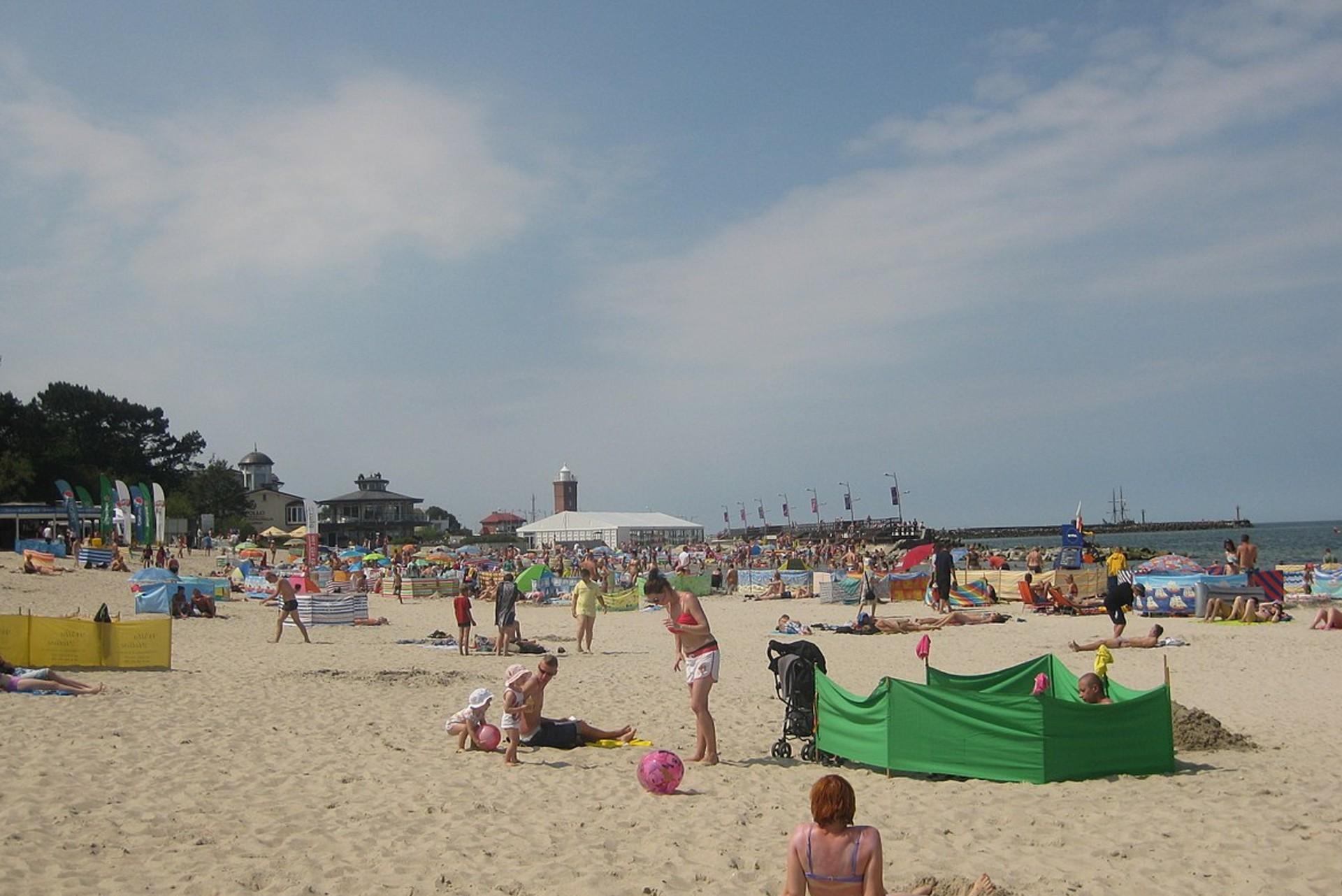 Znaki na plaży w Darłówku