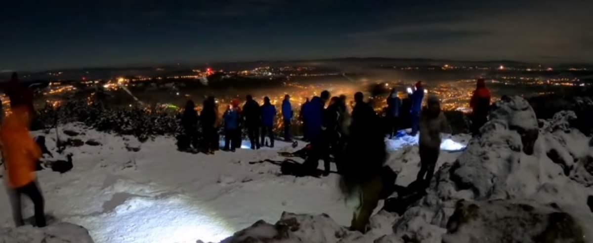 Nagranie ze szczytu góry