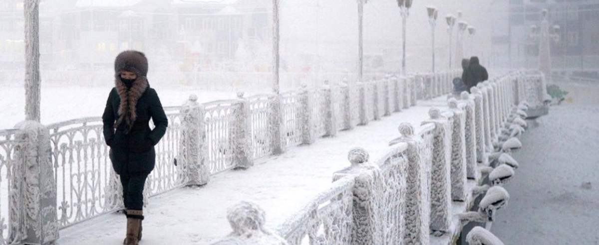 pogoda najzimniejsze miasto