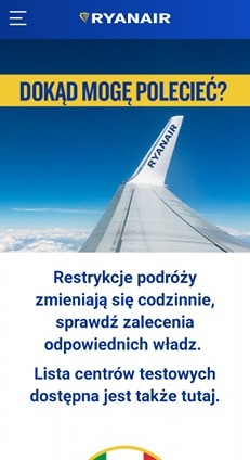 Ryanair wprowadza dokumenty szczepionkowe