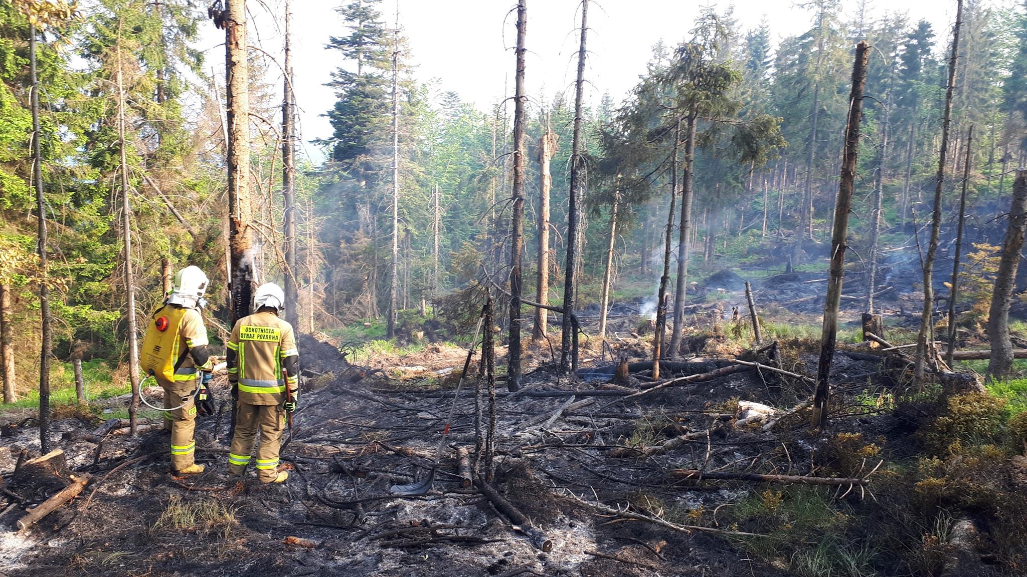 pożar w masywie baraniej góry