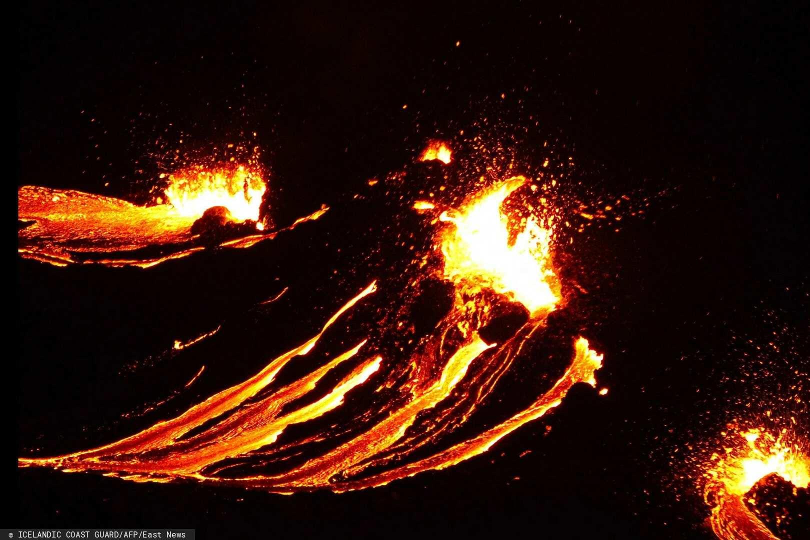 wybuchł wulkan na Islandii